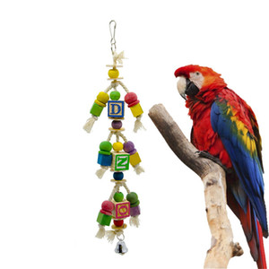 Large-and-middle-sized Parrot Articles Gnaw Toys To Climb Ladder Gourd Letter Stand Bar Cage Parts Bird Supplies