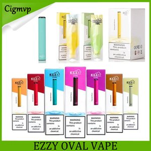 Ezzy OVAL descartável dispositivo descartável Vape Pen 280mAh Bateria 1,3ml cartuchos vazios Bar 300 Puffs Starter Kit PK Ezzy Air Plus