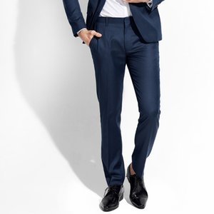 2018 men long pants 50% wool high quality gentle smart casual man suits pant spring slim boyfriend birthday father day gifts 2xl