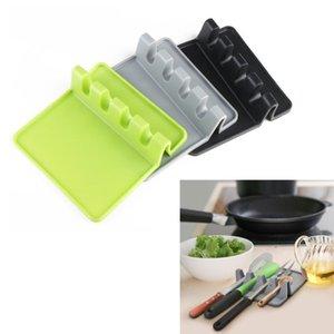 Silikon-Utensil Mat Suppe Scoop Turner Halter Kochen Werkzeuge Löffel Spachtel Utensilien Küche kochende Regal-Halter-Auflage