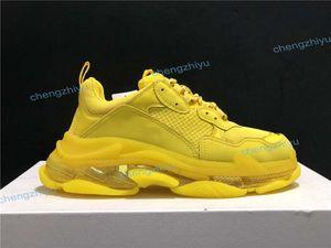2020 zapatos de moda verde oscuro Triple S papá la mejor calidad de Triple-S zapatos casuales zapatos casuales Beige Negro Hombres Mujeres Trainer zapatos con la caja