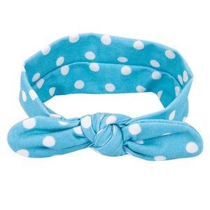 Hairband,Baby Ears Polka Dot Elastic Bow Turban Knitted HeadBand