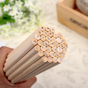 Eco-friendly Natural Wood Pencil HB Black Hexagonal Non-toxic Standard Pencil Cute Stationery Office School Supplies 30pcs lot