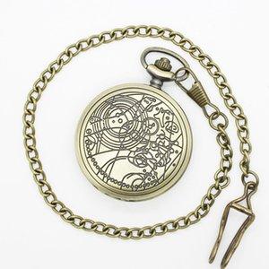 (1042) 12pcs lot DW doctor who desgin WATCH Necklace Engraved Quartz Pocket Watch Pendant, Party gift. T200502