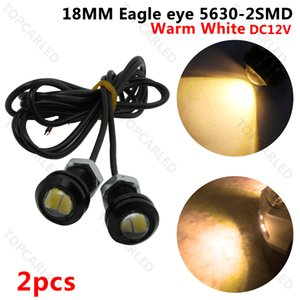 20pcs 18 milímetros LED Eagle Eye Luz DRL 5630 SMD 2 LED Daytime Running luz Car Motorcycle Nevoeiro reverso Estacionamento backup Lamp 12V