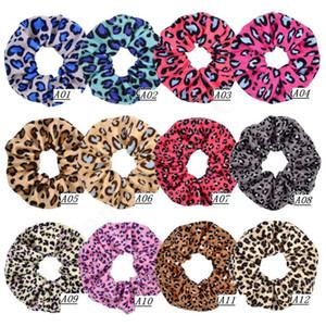 Las mujeres elegantes de terciopelo pelo elástico del Ponytail Tie Scrunchies Scrunchy pelo anillo de Hairband del pelo del lazo de terciopelo Pleuche Headwear A102902
