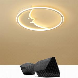 Led 천장 조명 달 미소 아크릴 크리 에이 티브 천장 램프 Nordic modern bedroom living room 가정 실내 조명 RC Dimmable 펜던트 램프