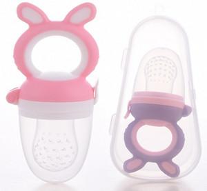 Baby-Beißring Nippel Obst Lebensmittel Silikon Beißringe Sicherheits Feeder Beißen Lebensmittel Beißring BPA frei