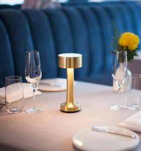 Creative charge lampe LED table ambiance tactile bar café hôtel lampe de table de restaurant chambre lampe de chevet de nuit