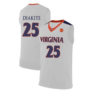 Nigel Johnson Stitched Navy Virginia Cavaliers Kody Stattmann Ralph Sampson Sean Singletary Trevon Gross Jr. Men's White College Jersey