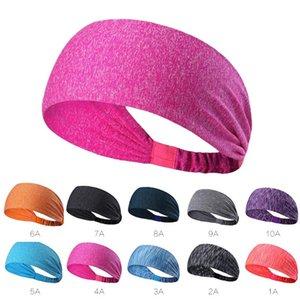 Estilo turbante Yoga hairband deporte de los hombres de la cinta del pelo absorber el sudor de secado rápido Dance Fitness Correr Ciclismo diadema