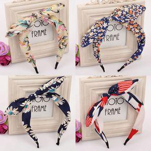 Jóia Hairband para as Mulheres Cabelo Tecido Bow Knot cabelo Hoop orelhas de coelho Headband para Headwear Mulheres Cabelo Acessórios C355