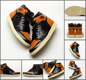 2019 Top Quality 1s Shattered Backboard 3.0 Basketball Shoes Mens Black Pale Vanilla-Starfish 555088-028 Sport Sneaker Size 7-12