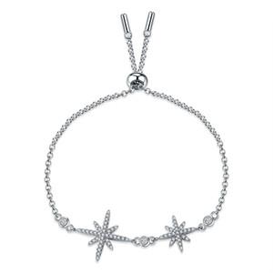 Star Bracelet coréenne mode personnalisé Micro marqueté Zircon sauvage Double Meteor Argent Couleur Lady Bracelet ZK40