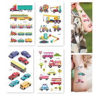 NOVO Tema da Fazenda Tatuagem Temporária Dos Desenhos Animados Car Construction Vehicle Sticker Truck Escavadeira Sticker Boys Child Gift Birthday Party