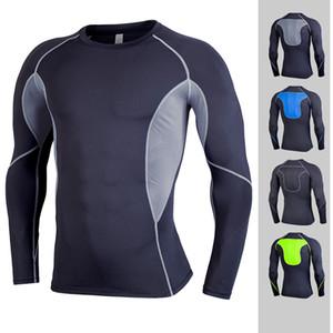 Erkekler Sıkıştırma Gömlek Sıkı tişört Uzun Kollu Termal Altındaki En İyi Spor Taban Katmanı Halter Aşınma ücretsiz gönderim