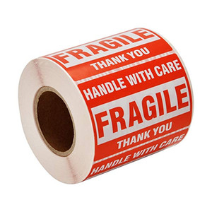 500pcs 2*3inch Fragile Stickers Handle with Care Warning Packing Shipping Labels Stickers THANK YOU Permanent Adhesive Sticker