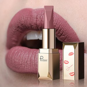 Pudaier Matte Lipstick Waterproof Lip Makeup 26colors Long Lasting Moisturizer Lip Tint Black Pigment Sexy Rouge A Levre Mat