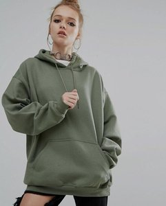 Autumn and winter new loose solid color sports Hoodie bat sleeve sweater women's wear