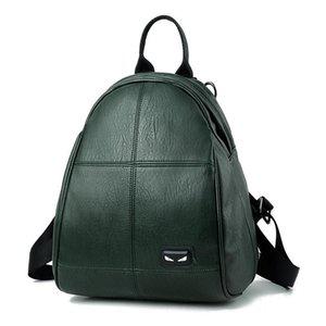 MONNET CAUTHY Sacs pour Femme Classique Concise Loisirs Mode coréenne style sac à dos solide Couleur Vert Noir Vin rouge Femme Sac