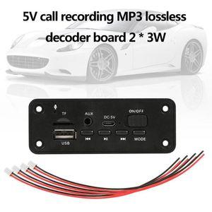 Grabadores AUX USB 5V jugador MP3 Decoder Junta 2 * 3W del coche del altavoz de radio de FM Módulo de ayuda FM TF