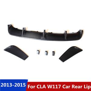 For benz CLA Class W117 Revozport Style real carbon fiber car rear lip spoiler diffuser 2013-2015