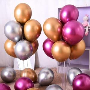 12 polegadas 50pcs látex balão de metal Xenon de aniversário de casamento decoração do partido balões uma festa pacote fornece uma variedade de cores XD22313