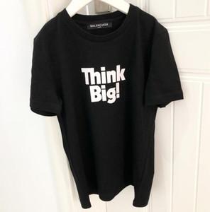19SS Paris Fan Fashion KIDS t shirt Letter printing T Shirts bosy girls think big top Tshirt Casual Round collar Tee tiger T-shirt