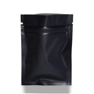 7 * 10 cm Noir Mat Emballage Sac D'aluminium Aluminium Feuille Zip Lock Package Sacs En Gros 200 pièces Auto-Étanchéité Mylar Foil Package Pouch