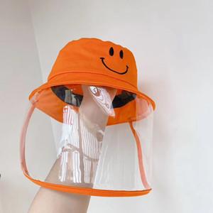 Maske toz geçirmez anti Drool Suya Dayanıklı Balıkçı Şapka Turuncu Havza Cap Çocuk Güvenliği Koruyucu HHA1175 ile Çocuk Koruyucu Kapak