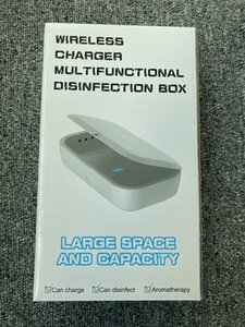 Disinfection Lamps Kill Germs Wireless Charger UV Sterilizer Box For Smart Phone 10w QI Quick Charge Dual UV