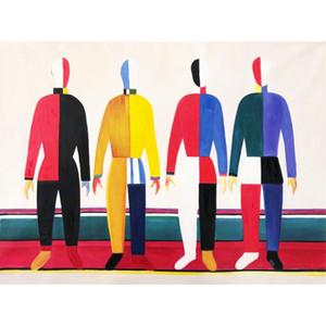 손으로 그린 벽 예술 유화 스포츠 남성 거실 장식 높은 품질에 대한 현대적인 작품의 사진을 그림 추상적 인 그림