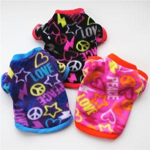Vestiti del cane caldo pile Graffiti Style Pet Dog sweatershirt cucciolo maglione Autunno Inverno cappotti Pentagram Ventilazione Pet T-shirt
