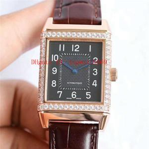 New Diamond Mens Watch Reverso Q2788520 Assista Casual relógio suíço automático 21600 VPH Sapphire 18k de aço inoxidável 316L Rosa de Ouro