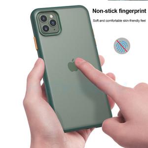 Couleur de la peau givré silicone souple téléphone pour l'iphone 6 7 8 6P 8P 7P X XR XS Max 11 11Pro 11Pro Max pour Samsung Note8 Note9 note10 S9 S8