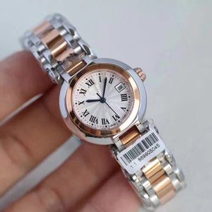 Luxury Watches Quality sapphire 28mm constellation Mother of pearl Diamond circle Bezel Stainless Steel Nurse watch quartz womens Watch gif