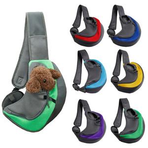 Pet Dog Pet Carrier Sling Bag Carrier Mesh traspirante Viaggiare Sicuri Sling Bag Carrier per cani gatti liberi