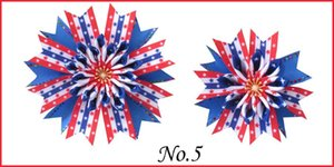 """Um par de bênção menina Popular de 3,5"""" + 4.5"""" Fada do arco grampo de cabelo Bandeira Nacional Dia Flor do unicórnio do Natal Halloween"""