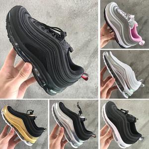 Nike air max 97 Bebés Crianças Sapatos Kanye West Zebra Running Shoes 2018 Crianças Athletic Shoes
