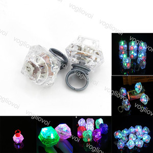 LED Diamantring Leuchtringe Emittierende Produkte LED Blinklicht Ring Party Finger Lichter Halloween Christmas Festival Light EPACKET