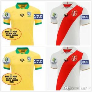 Copa América final 2019 Brazil Soccer jerseys Home a 19 20 peru GUERRERO COUTINHO G. JESUS camiseta de futbol R. AUGUSTO football shirts