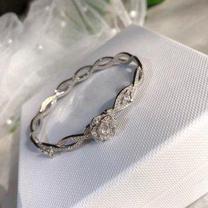 2020 New High Fashion Rose Design Bracelet pour les femmes fleur de cristal Bangle de soirée de mariage Bijoux Bijoux fin