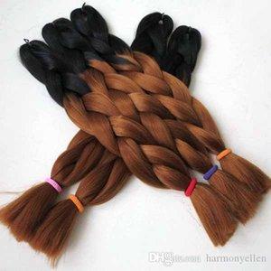 합성 점보 땋는 머리 무료 배송 omber 블랙 (30) # 컬러 옹 브르 두 톤 컬러 점보 브레이드 헤어!