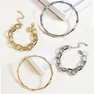 Bracelets Bangles Fashion Women High Quality Pearl 18K Gold Plated Triangle Alloy Charm Bracelets Wholesale Drop Shipping TBR014#672