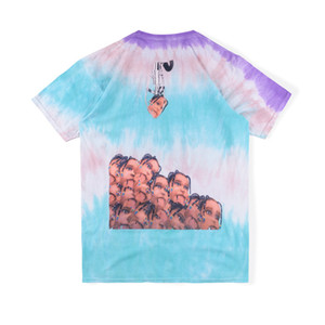 20ss Hip Hop Ins calda Travis Scott Stormi 2 World Party clip Doll Tie Dye Tee Skateboard Mens progettista della maglietta donne di strada casuale maglietta