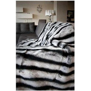 MS.Softex Chinchilla Rex Rabbit Blanket Real Rex Rabbit Fur Throw Factory OEM luxury fur blanket Bedcover Rabbit Fur Blanket