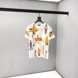 Mens designer de T camisas Logotipo Da Marca NOVA WALKERS Impresso T-Shirt Verão Moda Masculina Algodão Camiseta Casual Tee T-shirt DA VERSÃO SUPERIOR