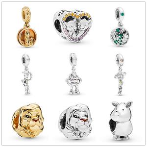 جديد شحن مجاني موك 20 قطع الفضة diy مجوهرات بمناسبة تفقد حبة صالح orianl باندورا سحر سوار f008