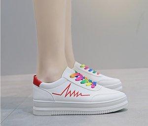 Zapatos de diseño estupendo del envío libre de las mujeres ocasionales, zapatos de encaje transpirable UP de ocio de alta calidad, Calzado mujer cómoda de tamaño 35-39 MCS 033