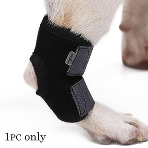 Dozzlor 1Pc Short Leg Dog Recovery Bandage Pet Knee Pad Leg Protectors Protects Wounds Heal Anti-twist Fixed Protective Cover